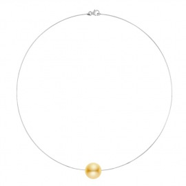 Collier Câble en Or Blanc