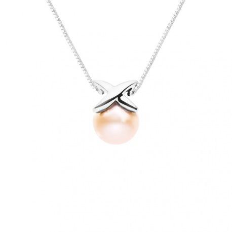 Collier Chaine Vénitienne - Motif Nœud  Or Blanc