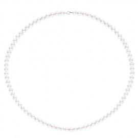Collier de Perles Fermoir Or Blanc