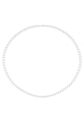 Collier de Perles Fermoir Or Blanc