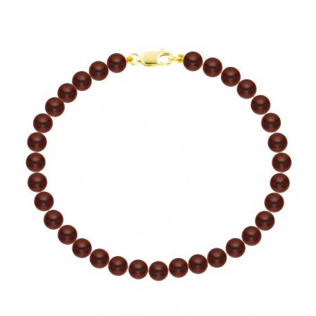 Bracelet Rang de Perles  - Fermoir Mousqueton Or Jaune