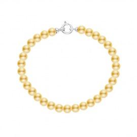 Bracelet Rang de Perles  Fermoir en Or