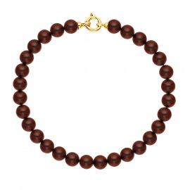 Bracelet Rang de Perles  - Fermoir Anneau Marin Or Jaune