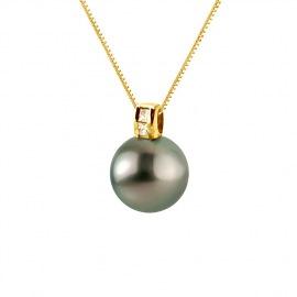 Pendentif Prestige Bélière Moderne Or Jaune Diamants