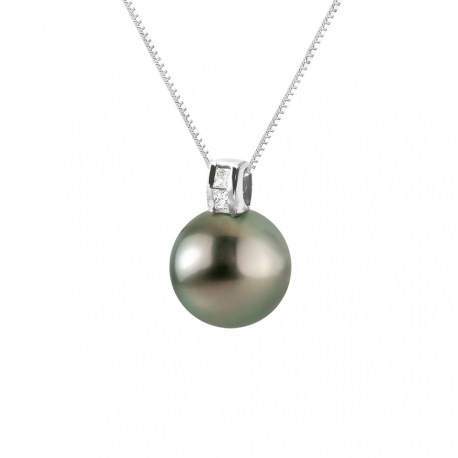 Pendentif Prestige Bélière Moderne Or Blanc Diamants