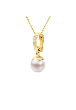 Pendentif Prestige Bélière & Diamants   en Or Jaune