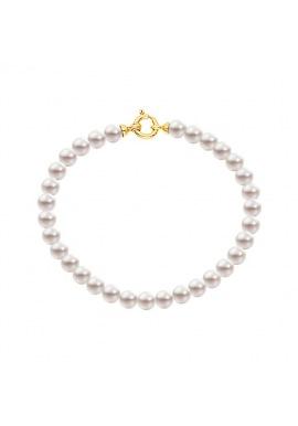 Bracelet Rang  - Fermoir Anneau Marin Or Jaune -