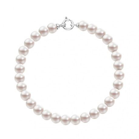 Bracelet Rang  - Fermoir Anneau Marin Or Blanc -