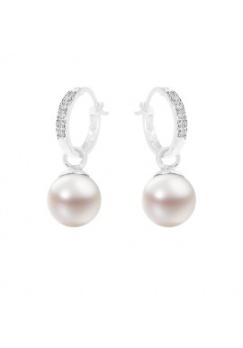 Boucles d'Oreilles en Or Blanc & Diamants