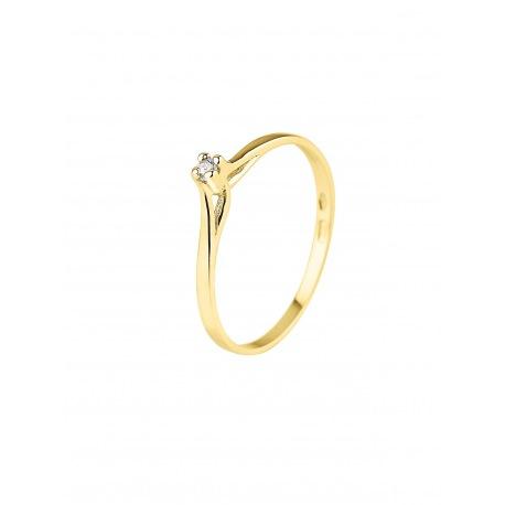 Bague Solitaire Véritables Diamants 0,03 Carats