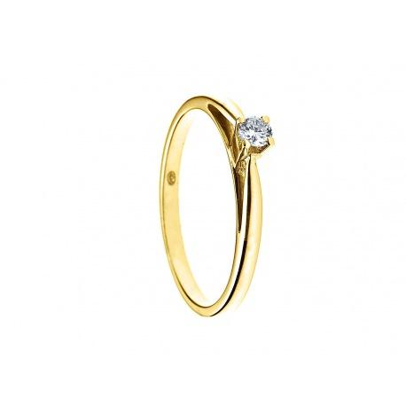 Bague Solitaire Véritables Diamants 0,10 Carats