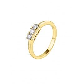 Bague Trilogie Véritables Diamants 0,24 Carats