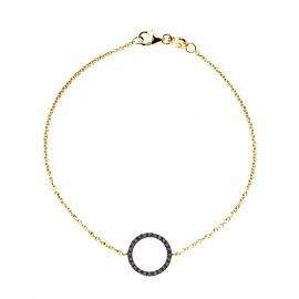 Bracelet Véritables Diamants Noirs 0,20 Carats