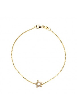 Bracelet Véritables Diamants 0,12 Carats Carats Etoile