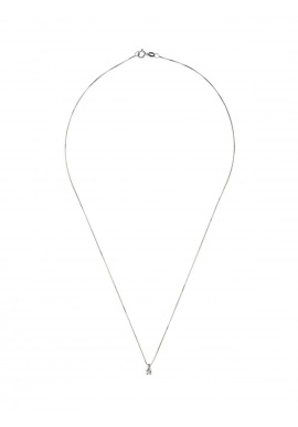 Collier Véritable Diamant Solitaire 0,03 Carats Serti 4 Griffe