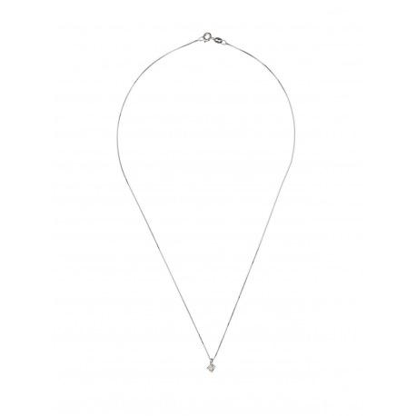 Collier Véritable Diamant Solitaire 0,20 Carats Serti 4 Griffe
