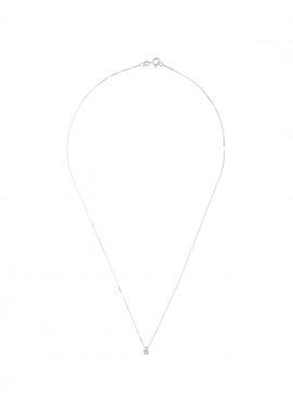 Collier Véritable Diamant Solitaire 0,01 Serti 4 Griffe