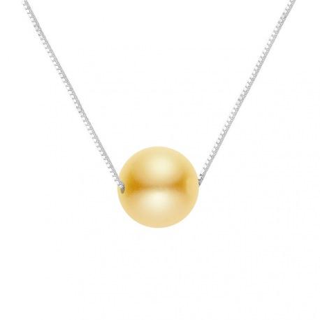 Collier Véritable Perle de Culture d'Eau Douce Argent Massif