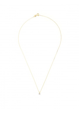 Collier Véritable Diamant Solitaire 0,02 Serti 4 Griffe