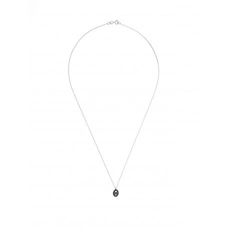 Collier Véritables Diamants Noirs 0,11 Carats