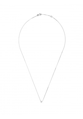 Collier Véritable Diamant Solitaire 0,05 Carats Serti 4 Griffe