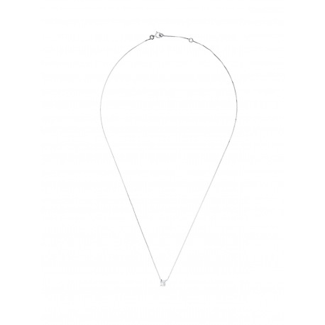 Collier Véritable Diamant Solitaire 0,15 Carats Serti 4 Griffe