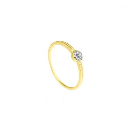 Bague Or & Solitaire Véritables Diamants