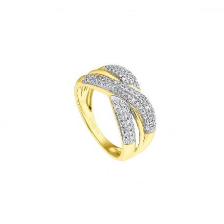 Bague Véritables Diamants 0,30 Carats Noeuds Serti Véritable Diamant