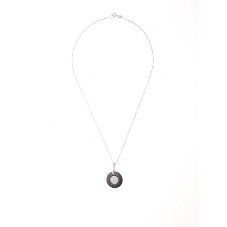 Collier Pendentif Céramique Motif Cercle