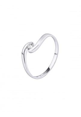 Bague Solitaire Véritable Diamant 0,08 Carats
