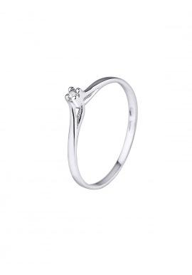 Bague Solitaire Véritable Diamant 0,03 Carats