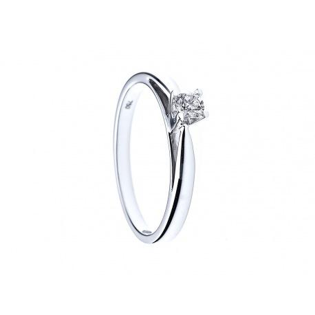 Bague Solitaire Véritables Diamants 0,15 Carats