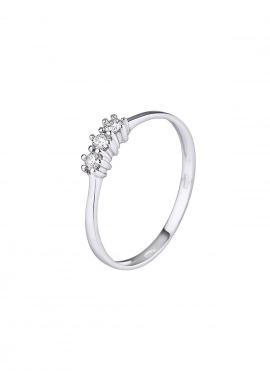Bague Trilogie Véritables Diamants 0,15 Carats