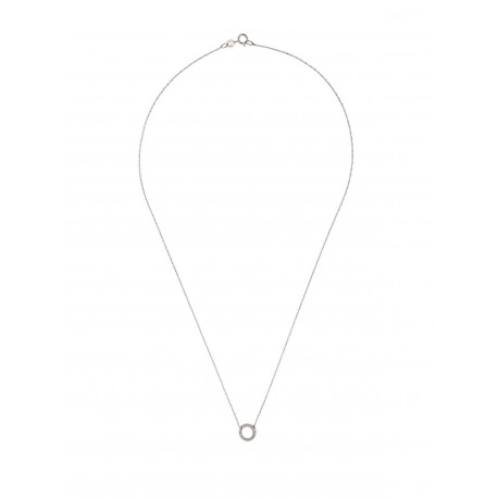 Collier Croix Véritables Diamants 0,08 Carats
