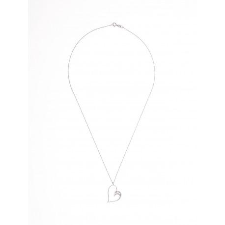 Collier Cœur Véritables Diamants 0,16 Carats
