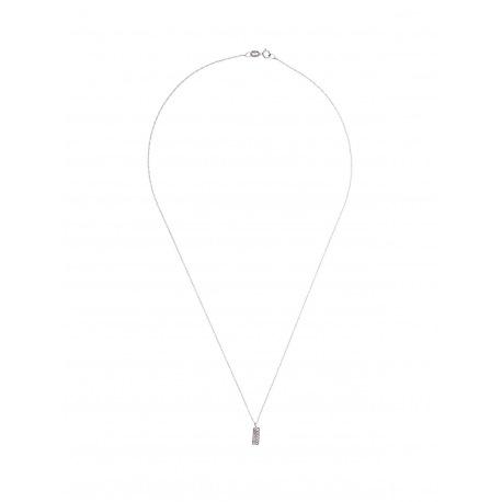 Collier Rectangle Véritables Diamants 0,04 Carats