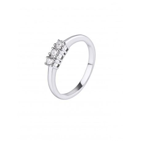 Bague Trilogie Véritable Diamant 0,24 Carats