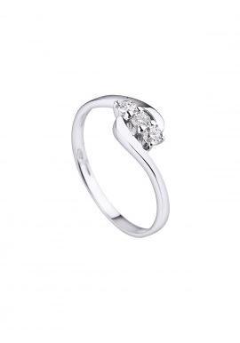 Bague Trilogie Véritable Diamant 0,21 Carats