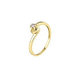 Bague Solitaire Véritable Diamant 0,04 Carats
