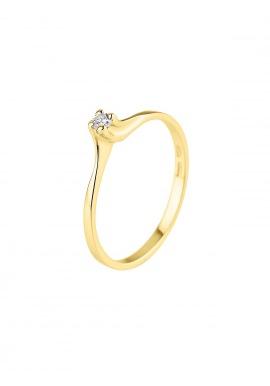 Bague Solitaire Véritable Diamant 0,06 Carats