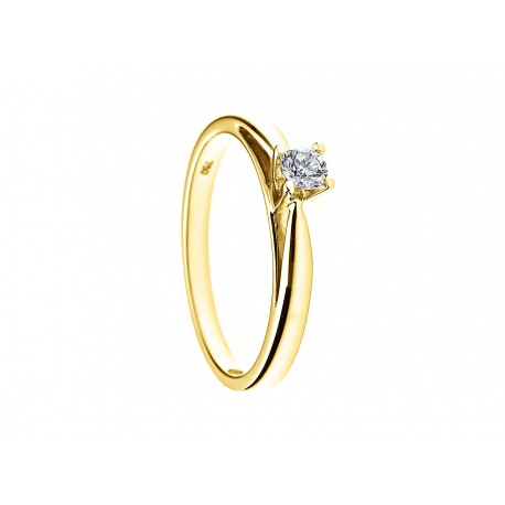 Bague Solitaire Véritable Diamant 0,15 Carats