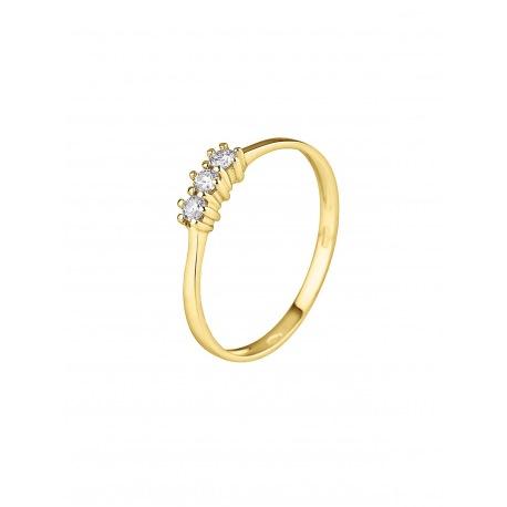 Bague Trilogie Véritable Diamant 0,15 Carats