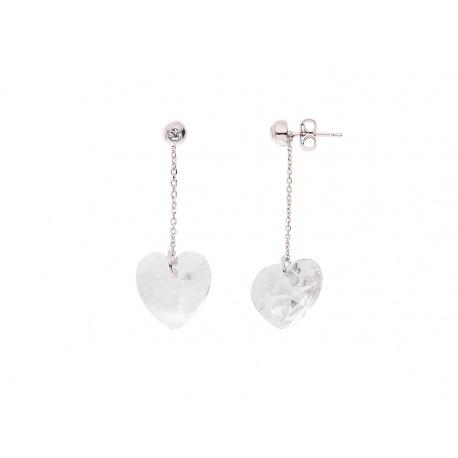 Boucles d'Oreilles Cœur Véritable Crystal SWAROVSKI