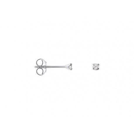 Boucles d'Oreilles Solitaires Véritables Diamants 0,06 Carats Serti 4 Griffe