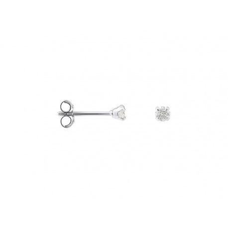 Boucles d'Oreilles Solitaires Véritables Diamants 0,15 Carats Serti 4 Griffe