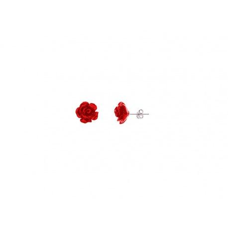 Boucles d'Oreilles Red Rose