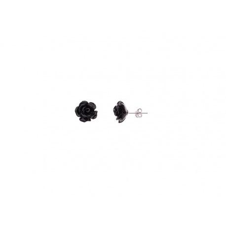 Boucles d'Oreilles Black Rose