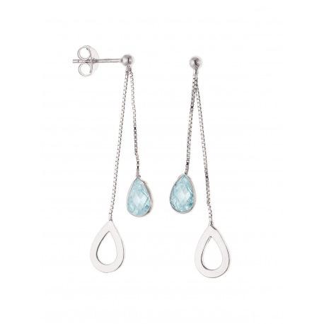 Boucles d'Oreilles pendantes & Goutte Topaze