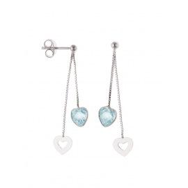 Boucles d'Oreilles pendantes & Topaze