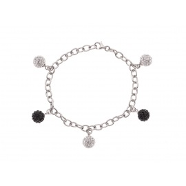Bracelet CHARM'S Argent & Crystal